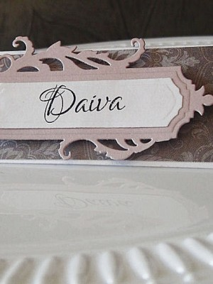 stalo kortele, seat card, wedding place card, escort card