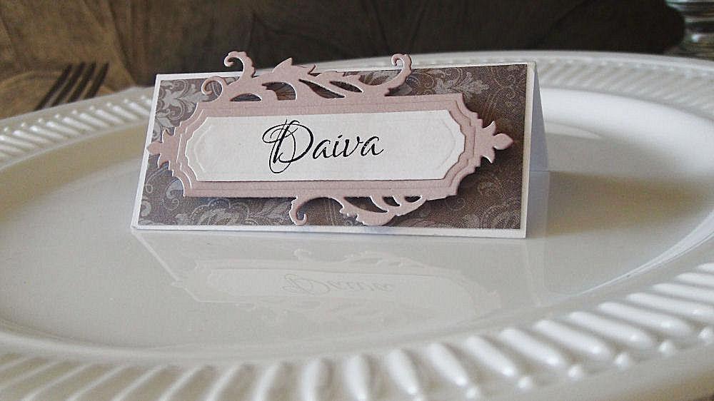 stalo kortele, seat card, wedding place card, escort card