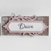 Wedding Place Card – Escort Card – Vintage Place Card – Floral Place Card -Pink Wedding Stationery – Name Card – Burlap Place Cards